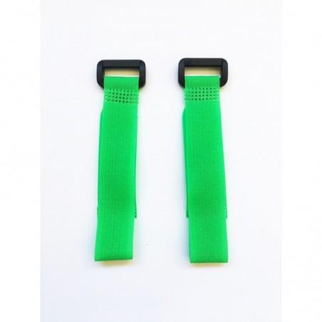 Cintas de velcro verde 20 cm x2 uds.