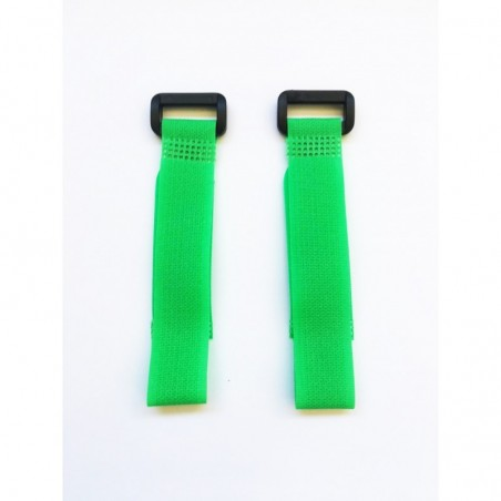 Velcro zip GREEN 20 cm x2 pcs