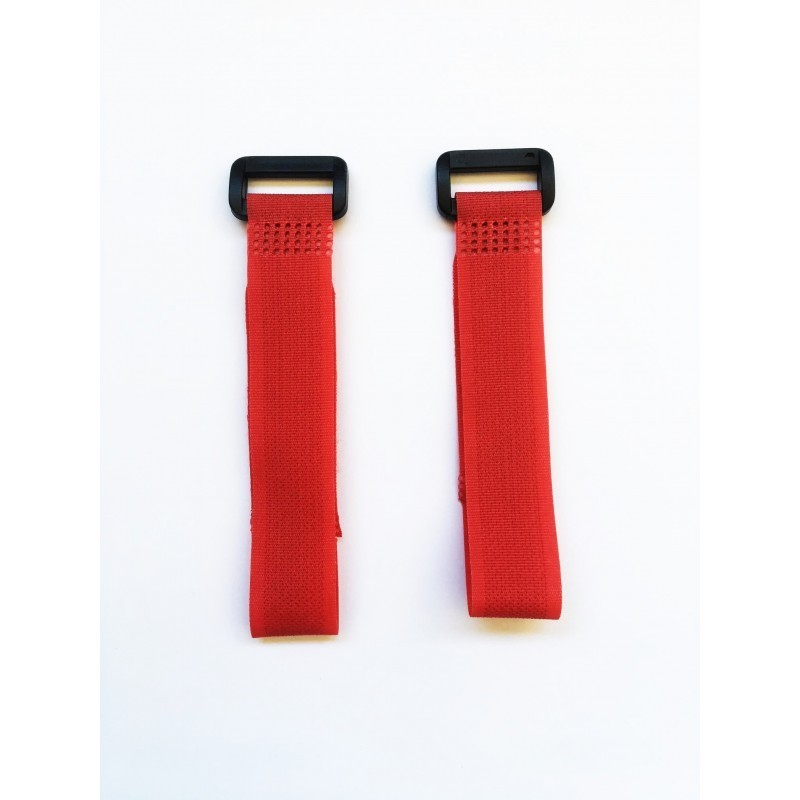 Velcro zip RED 20 cm x2 pcs