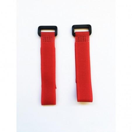 Cintas de velcro rojo 20 cm x2 uds.