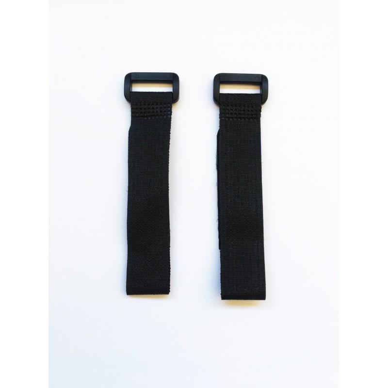 Cintas de velcro negro 20 cm x2 uds.