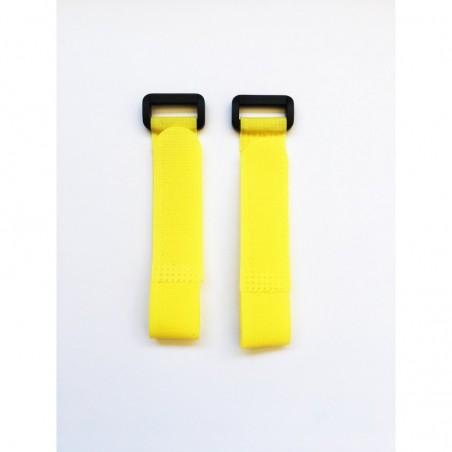 Cintas de velcro amarillo 20 cm x2 uds.