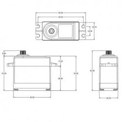 Coreless Servo SRT DL3017 LV 17kg -  0.15sec