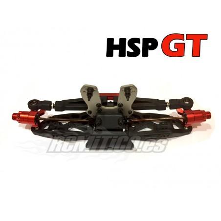 Tren delantero completo para Bazooka HSP GT 1/8