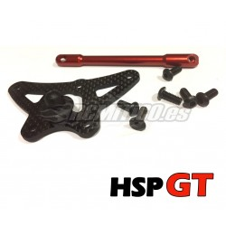 Front Steering Plate and Reinforcement SET HSP GT 1/8