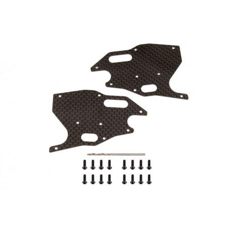 AS81418 -  Placas carbono trapecios delanteros RC8B3/3.1