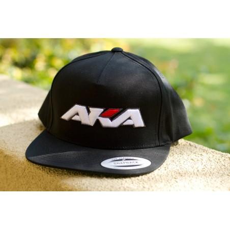 AKA Baseball cap Flat Bill Snap Back - Black