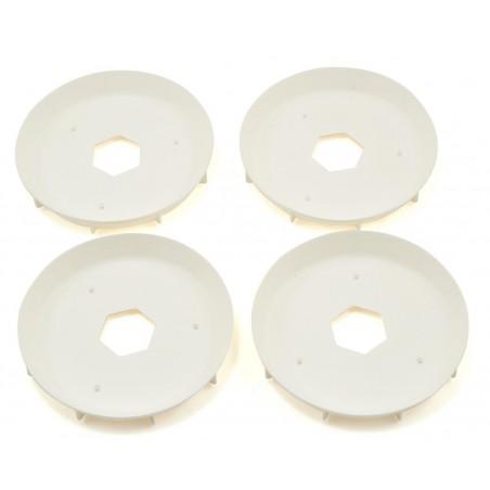Stiffeners disc for 1/8 Truggy Evo Wheel White x4 pcs