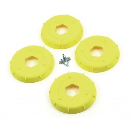 Stiffeners disc for 1/8 Buggy Evo Wheel Yellow x4 pcs