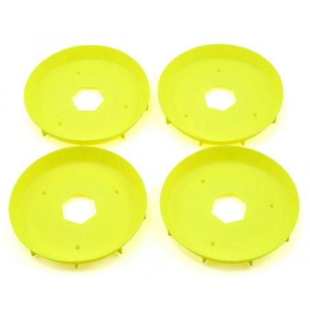 Stiffeners disc for 1/8 Truggy Evo Wheel Yellow x4 pcs