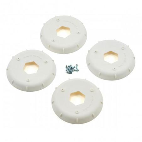 Stiffeners disc for 1/8 Buggy Evo Wheel White x4 pcs