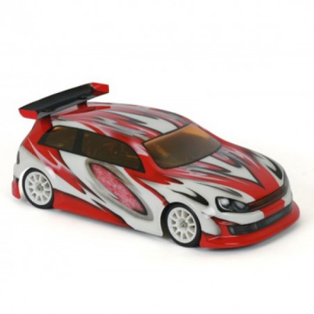 BLITZ Mini GTI 225mm Lexan 1.0mm Clear Body with wing