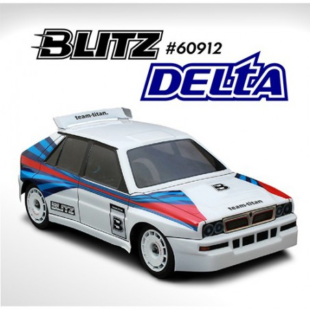 BLITZ Delta 225mm Lexan 0.8mm Clear Body with wing