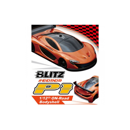 Blitz P1 1/12 Lexan 0.8mm On Road Clear Body