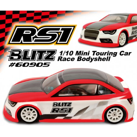 BLITZ Mini RS1 225mm Lexan 0.8mm Clear Body