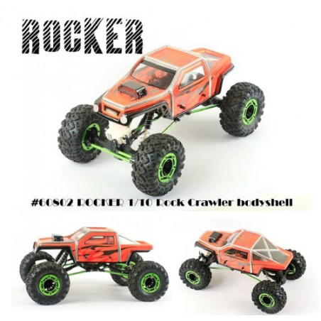 BLITZ Rocker 1/10 Rock Crawler Truck Clear Body