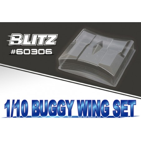 Buggy 1/10 Off Road Lexan Wing 1.2mm x2 pcs