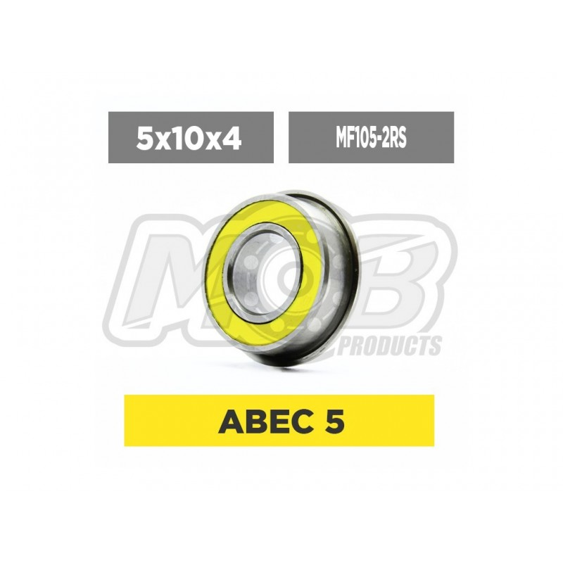 Rodamiento 5x10x4 2RS Flanged - Ministry of Bearing
