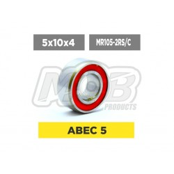 Ceramic Clutch bearing 5x10x4 2RS Red - Ministry of Bearing