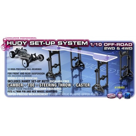 Universal Setup System For 1/10 Off Road Cars 4WD Hudy