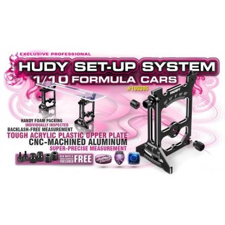 Mesa de setup Universal para 1/10 Formula 1 RC Hudy