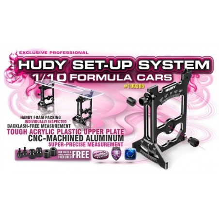 Universal Setup System For 1/10 Formula Cars Hudy