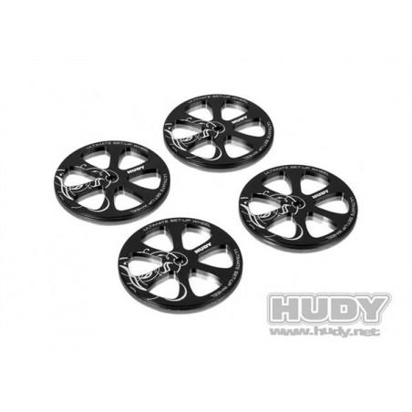 Aluminum Setup Wheel For 1/10 Rubber tires Hudy