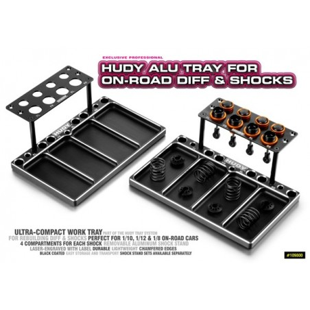 Hudy Aluminum Tray for On Road differentials and shock