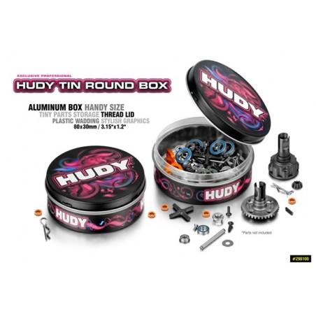 Hudy Tin Round box 80x30mm