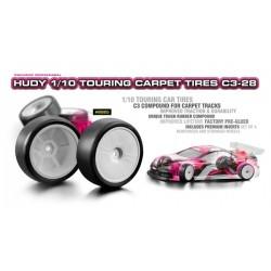 Hudy 1/10 Touring Car Carpet Tires C3-28 x4 pcs