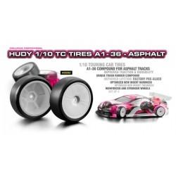Hudy 1/10 Touring Car Tires A1-36 Asphalt x4 pcs
