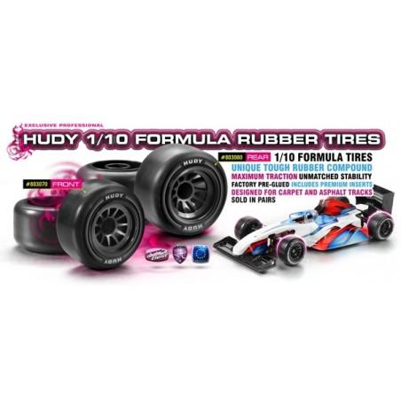 Hudy 1/10 Formula 1 Rubber tire Rear x2 pcs