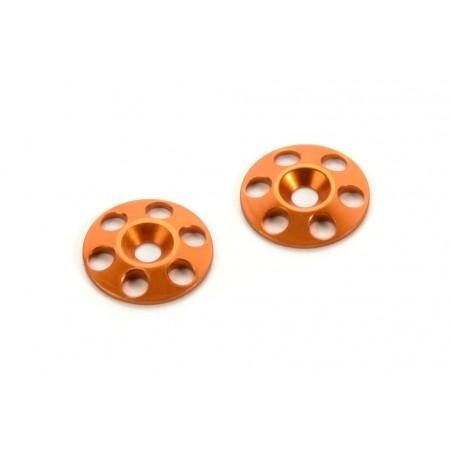 Arandelas Naranjas de Aleron 1/8 - 1/10 Hudy x2 uds.