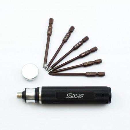 6-in-1 screwdriver hex 1.5 - 2.0 -2.5 - 3.0mm - phillips - flat