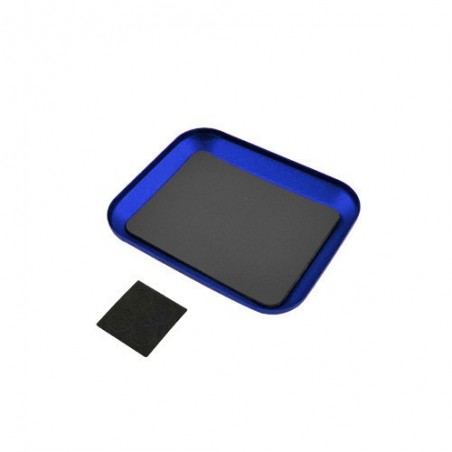 Magnetic parts tray Blue