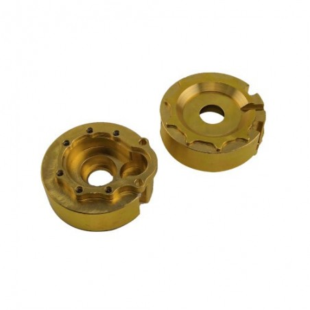 Traxxas TRX-4 brass portal cover set