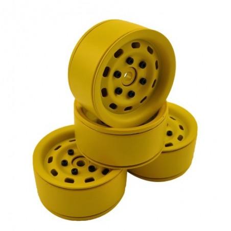 1.9 aluminum beadlock Crawler wheels M95 Yellow x4 pcslo