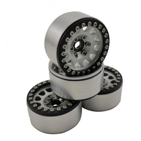 1.9 aluminum beadlock Crawler wheels M105 White Black x4 pcs