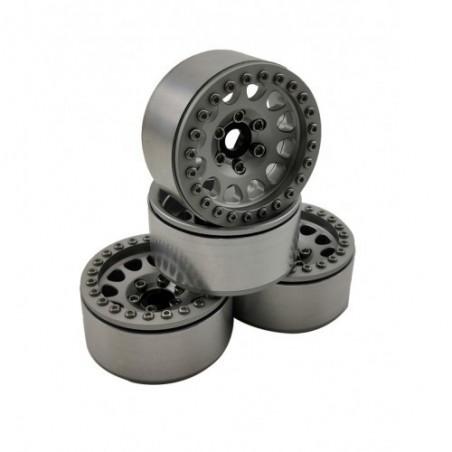 1.9 aluminum beadlock Crawler wheels M105 White White x4 pcs