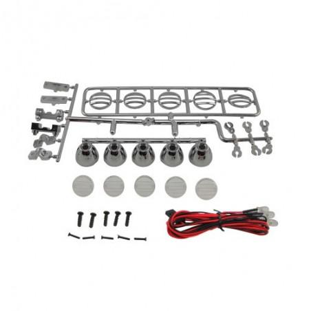5-Led roof spotlight kit Silver