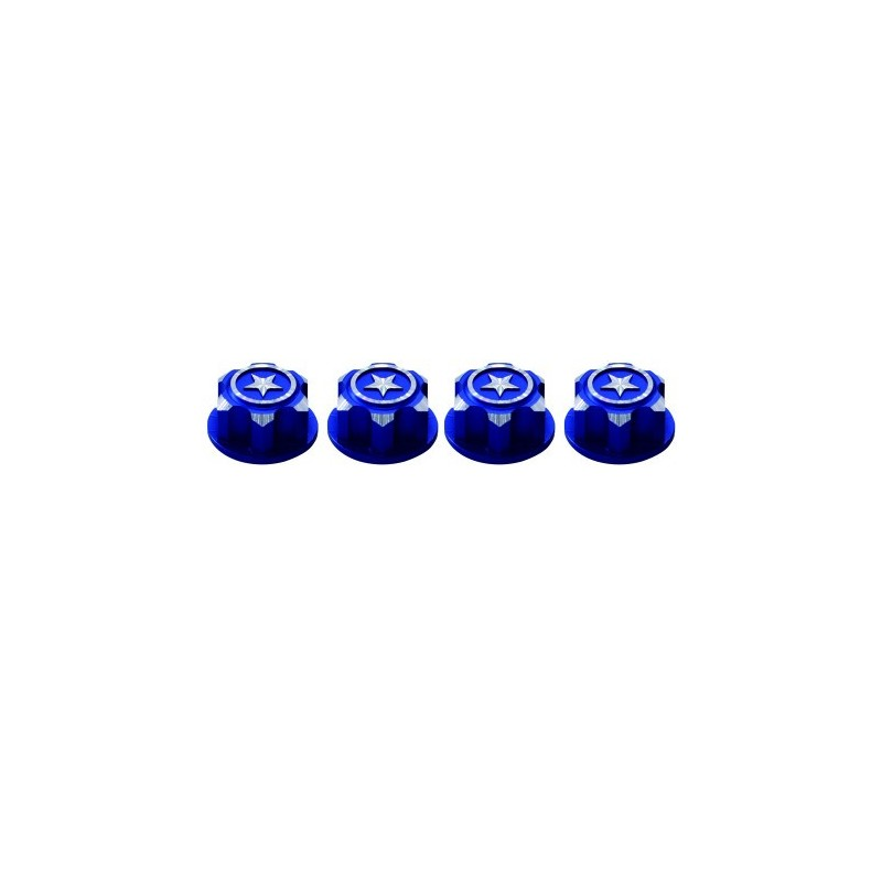 Traxxas 17mm covered wheel nut Blue x4 pcs