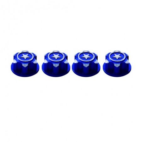 Tuercas de rueda ciegas 17mm Traxxas Azul x4 uds.