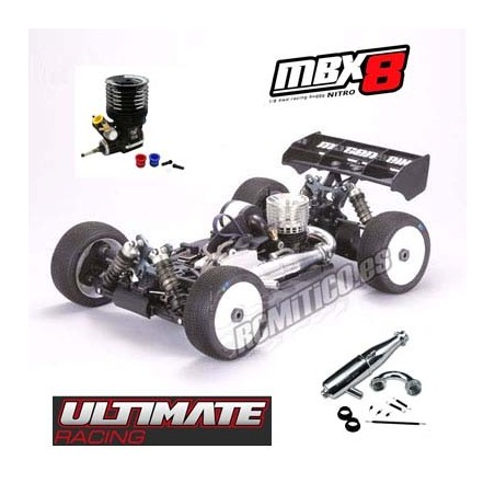 Combo Mugen MBX8 + Ultimate Engine M5S + Exhaust system 2142FHD Black