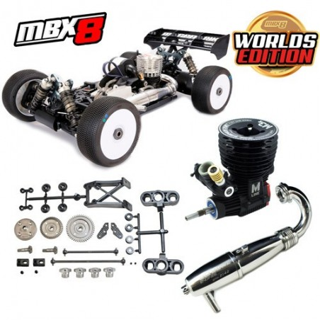 Combo Mugen MBX8 WE + Ultimate Engine M5S + Exhaust system 2142-FHD Black