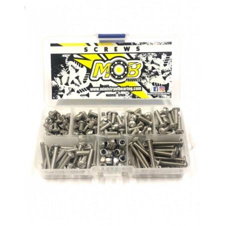 Kit de tornillos M4 cabeza boton acero inoxidable 200 uds.
