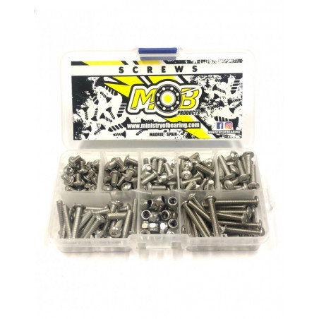 Screw set M4 Button Head stainless steel 200 pcs