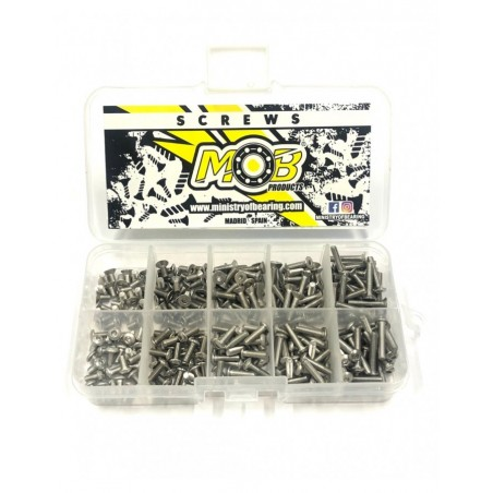 Screw set M3 Button and Countersunk Head stainless steel 250 pcs