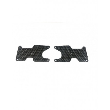 Placas Carbono 2mm trapecios traseros Associated RC8B3.2