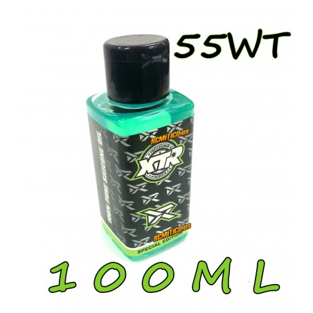 XTR 100% pure silicone oil 55 WT 100ml v2 RONNEFALK EDITION
