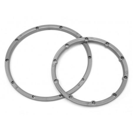 3242 - Wheel bead lock rings Silver Baja 5B